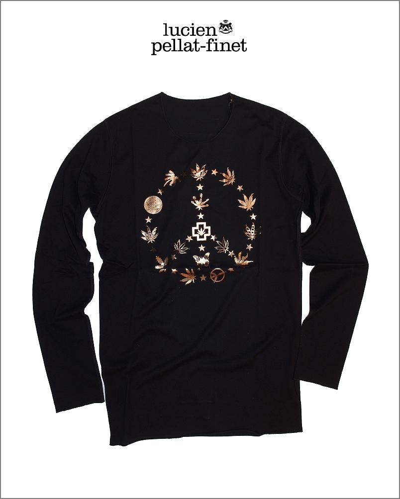 【全品P2倍/最大10,000円OFFクーポン配布中】ルシアンペラフィネ マルチ リーフ 箔プリント Tシャツlucien pellat-finet Leaf Tshirt
