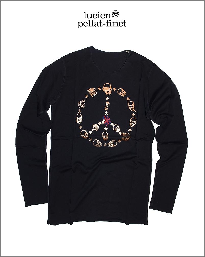 【全品P2倍/最大10,000円OFFクーポン配布中】ルシアンペラフィネ マルチ スカル 箔プリント Tシャツlucien pellat-finet Skull Tshirt