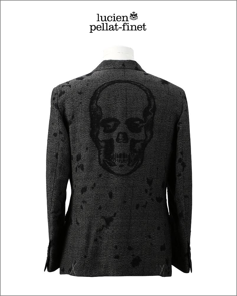 【全品P2倍/最大10,000円OFFクーポン配布中】ルシアンペラフィネ スカル デストロイド ジャケットツイードlucien pellat-finet Herringbone Skull Jacket