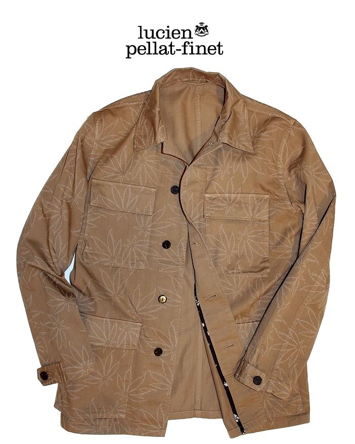 【全品P2倍/最大10,000円OFFクーポン配布中】ルシアンペラフィネ リーフ サファリジャケット lucien pellat-finet Safari Jacket