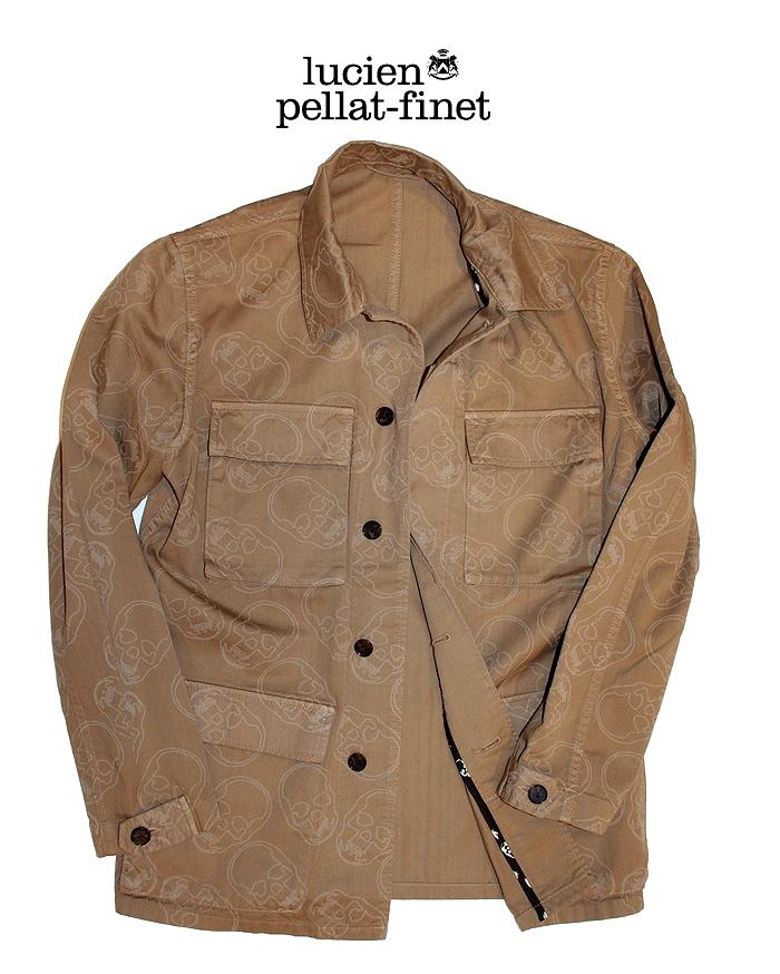 【全品P2倍/最大10,000円OFFクーポン配布中】ルシアンペラフィネ スカル サファリジャケット lucien pellat-finet Safari-Jacket