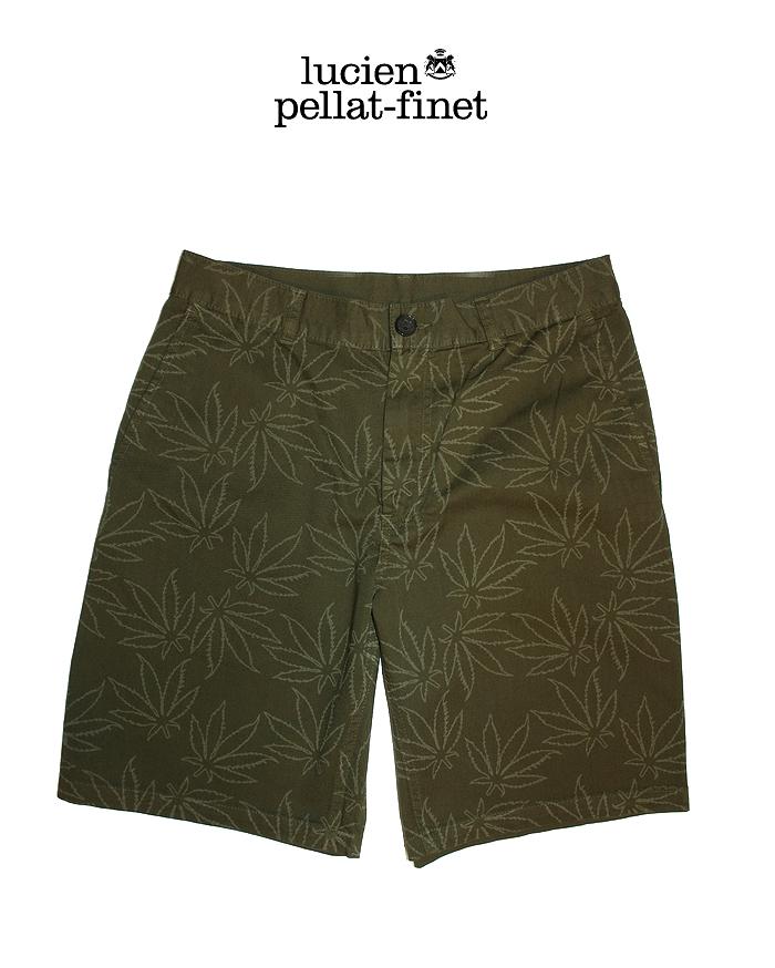 ルシアンペラフィネ リーフ サファリショーツ lucien pellat-finet Safari Shorts/Olive