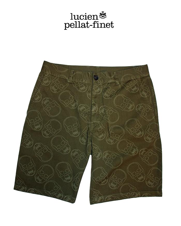 ルシアンペラフィネ スカル サファリショーツ lucien pellat-finet Safari Shorts/Olive