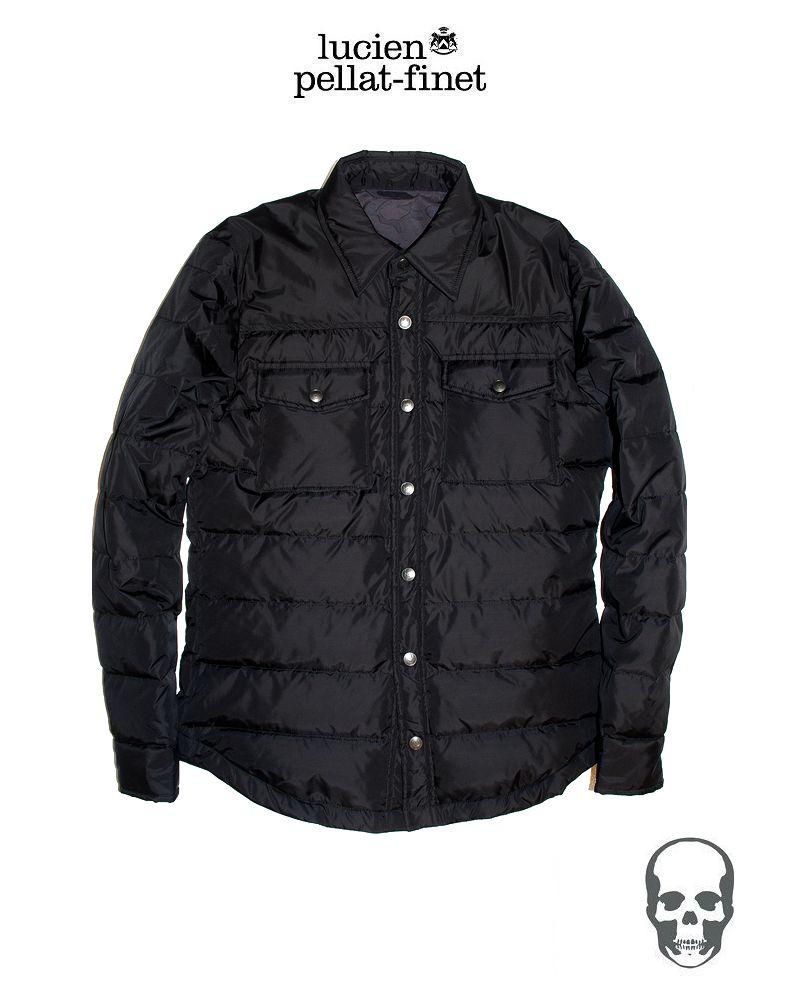 【全品P2倍/最大10,000円OFFクーポン配布中】ルシアンペラフィネ ブラック ダウンシャツジャケット lucien pellat-finet Black ShirtDownJacket
