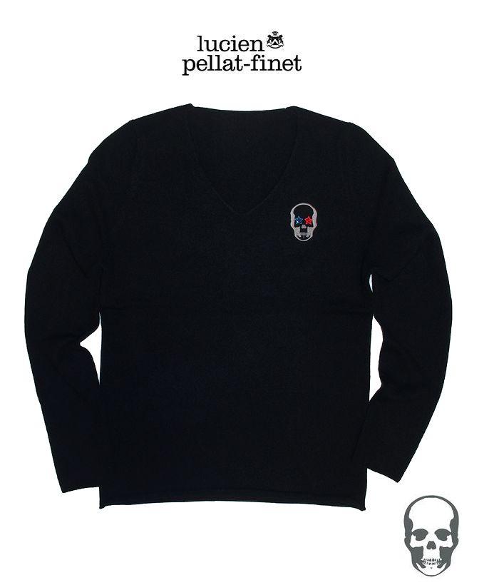 ルシアンペラフィネ【lucien pellat-finet Skull.StarEye.Cashmere.Knit/Black】【スカル-クリスタル・スターアイ・カシミヤニット】