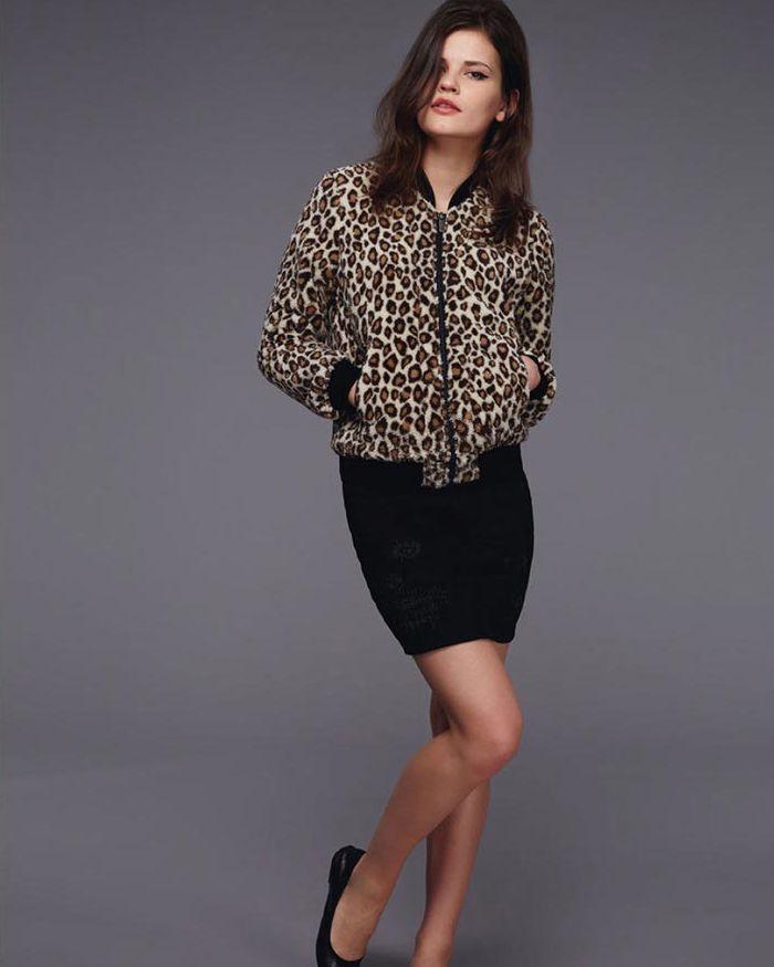 【全品P2倍/最大10,000円OFFクーポン配布中】ルシアンペラフィネ レオパード スカル ジャケット ボアフリース 女性用lucien pellat-finet Leopard-Skull-Jacket