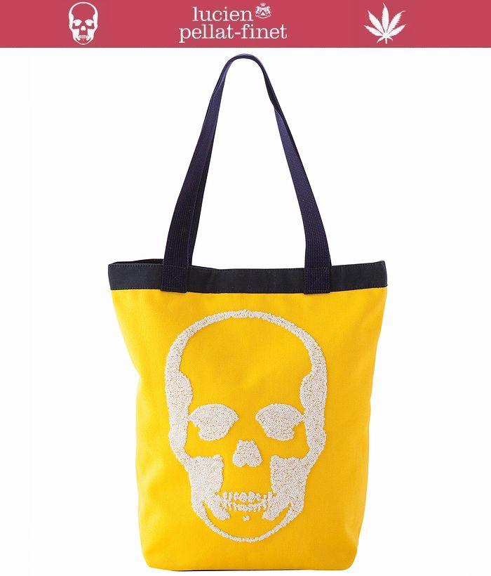 ルシアンぺラフィネ スカル トートバッグ スパンコール刺繍スカルlucien pellat-finet Skull Bagポップな色使いが魅力のトートバッグ