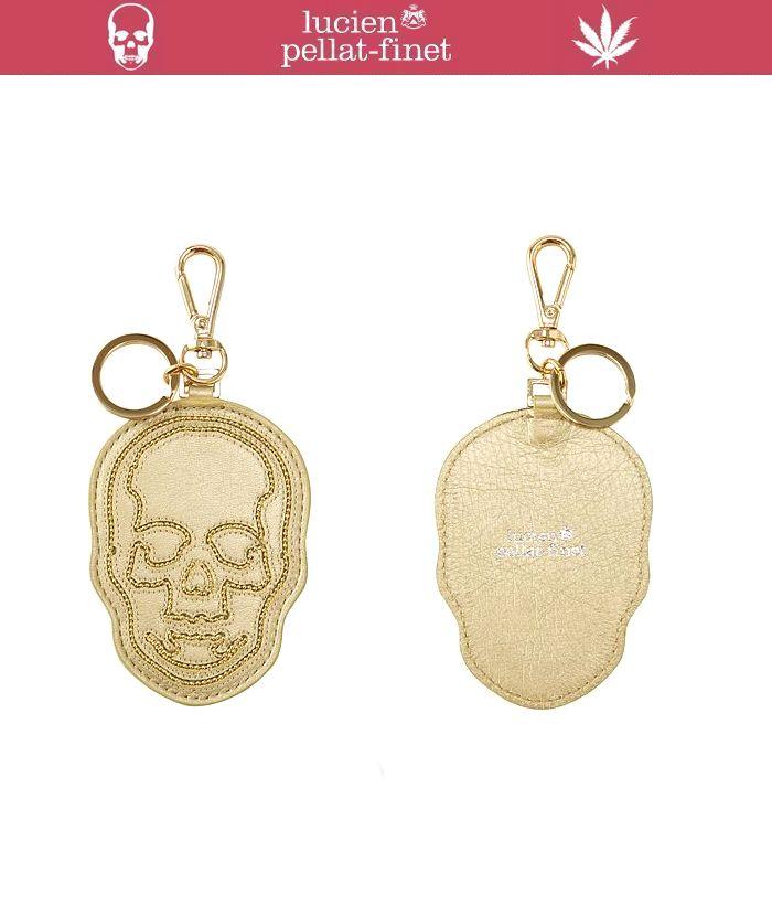 """【ルシアンペラフィネ""""レザースカル・キーホルダー】【lucien pellat-finet""""LeatherSkull/KeyHolder/Gold】"""