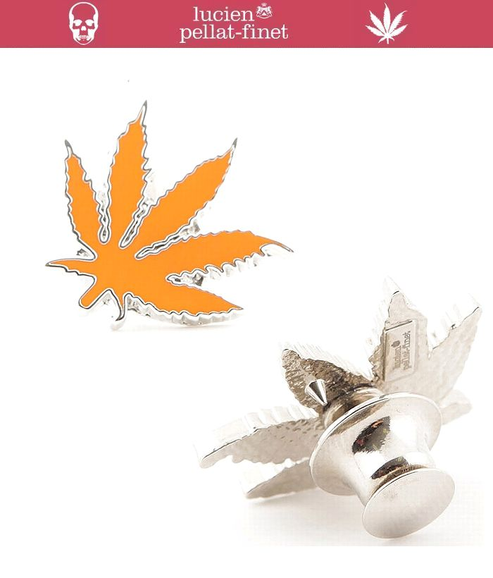 "【lucien pellat-finet""Leaf-Pins""orange】"