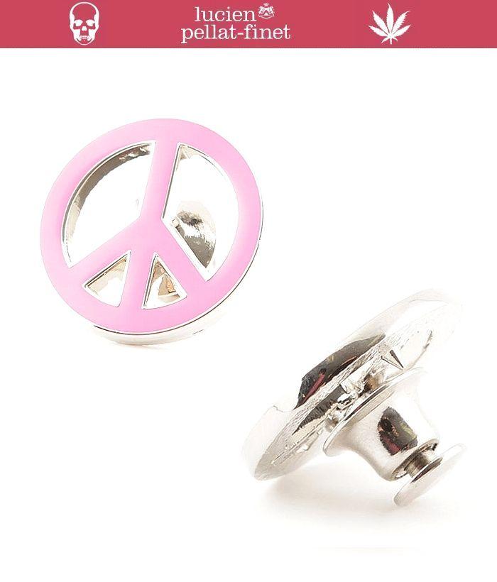 """【lucien pellat-finet""""peace-Pins""""pink】"""