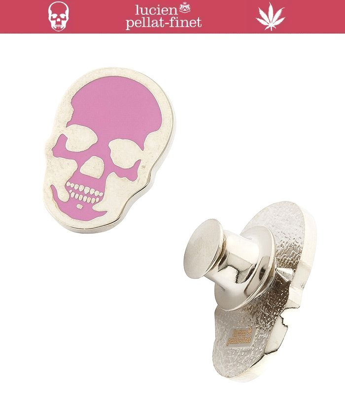 """【lucien pellat-finet""""skull-Pins""""pink】"""