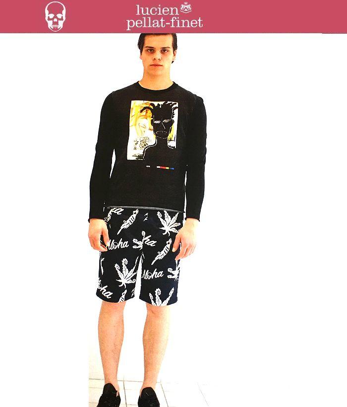 【全品P2倍/最大10,000円OFFクーポン配布中】ルシアンペラフィネ アロハショーツ ショートパンツ メンズlucien pellat-finet Shorts ハーフパンツ スカル