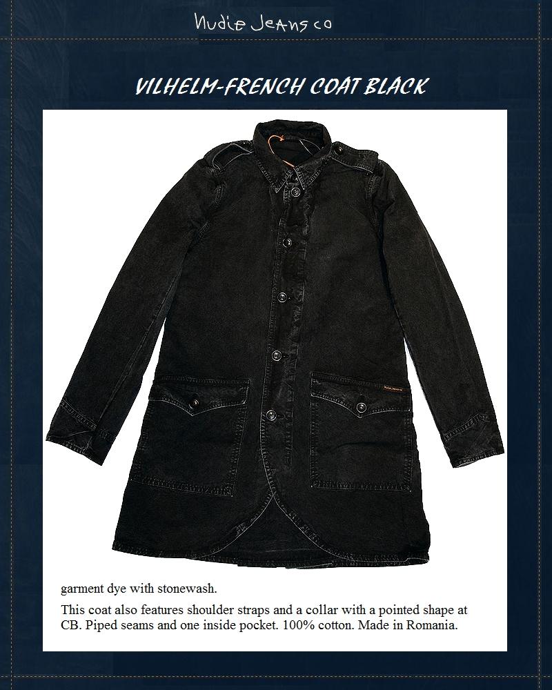 NudieJeans ヌーディージーンズ Vilhelm-French Jacket コットン ジャケット国内正規取り扱い
