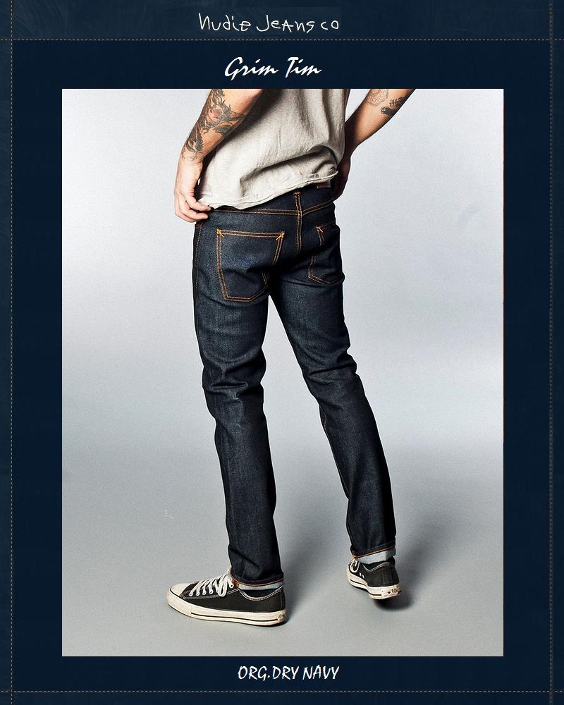 ヌーディージーンズ NudieJeans グリムティム オーガニック ドライ ネイビー L32GrimTim Org.Dry.Navy 北欧 スウェーデン デニム