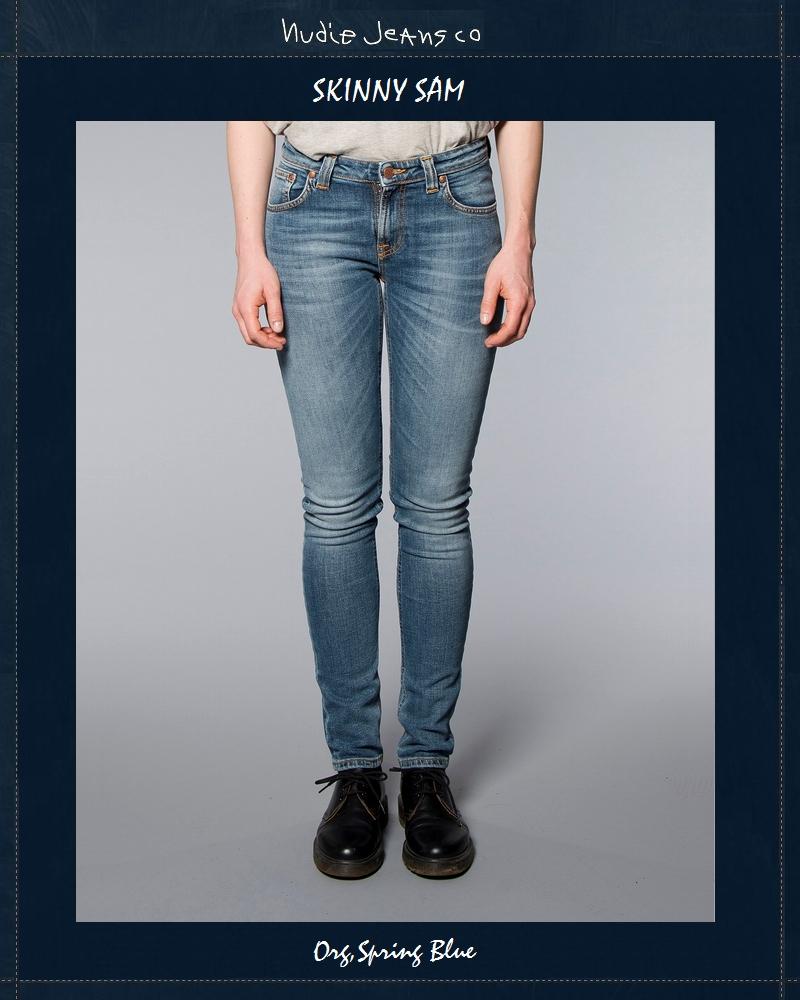 ヌーディージーンズ NudieJeans スキニーサム オーガニック スプリングブルー L32SkinnySam Org.Spring.Blue