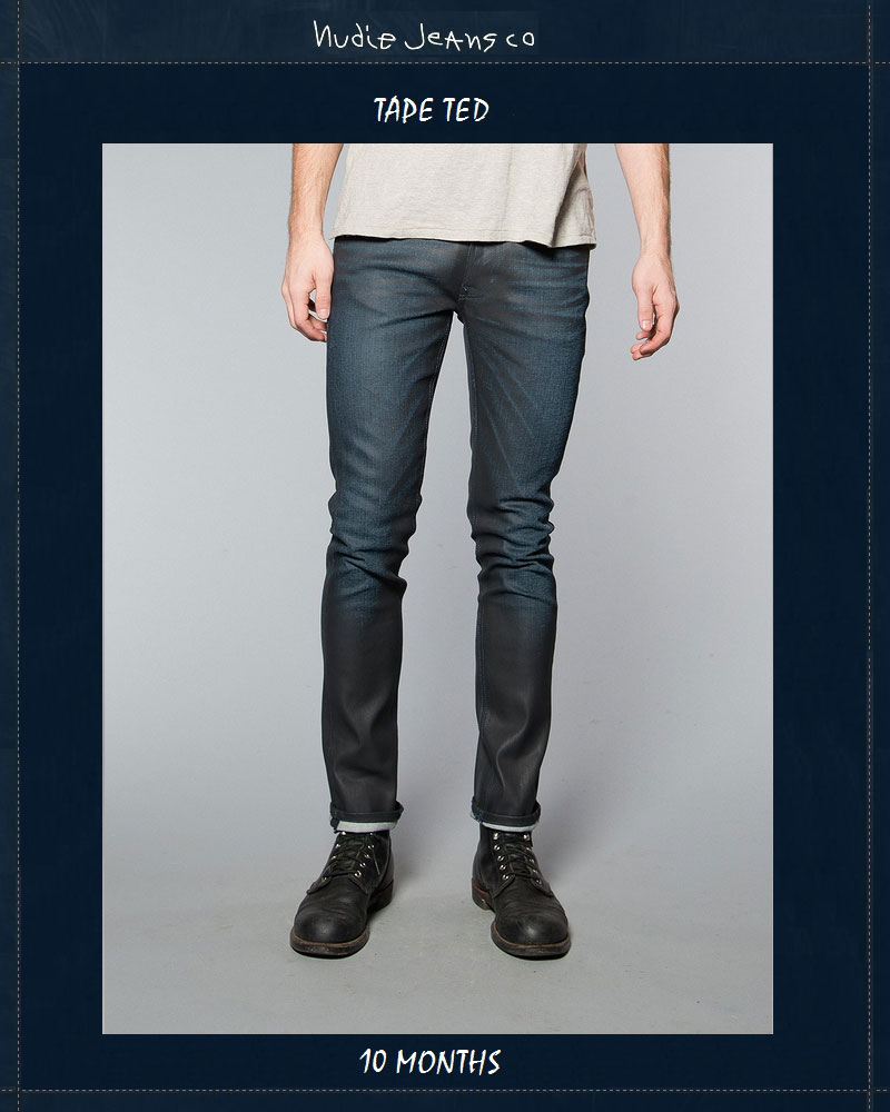 【全品P2倍】ヌーディージーンズ NudieJeans テープテッド 10か月 ビンテージデニム L30TapeTed 10 Months 北欧 スウェーデン