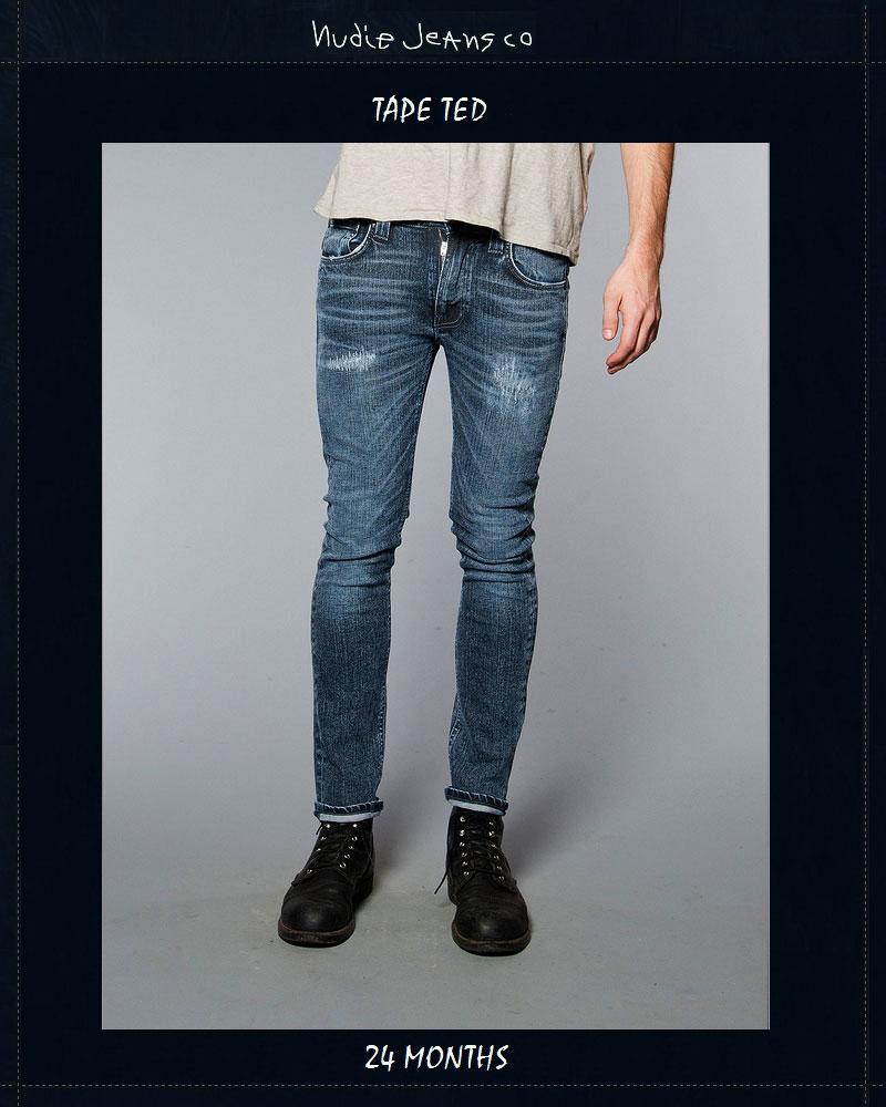 ヌーディージーンズ NudieJeans テープテッド 24か月 ビンテージデニム L30TapeTed 24Months 北欧 スウェーデン