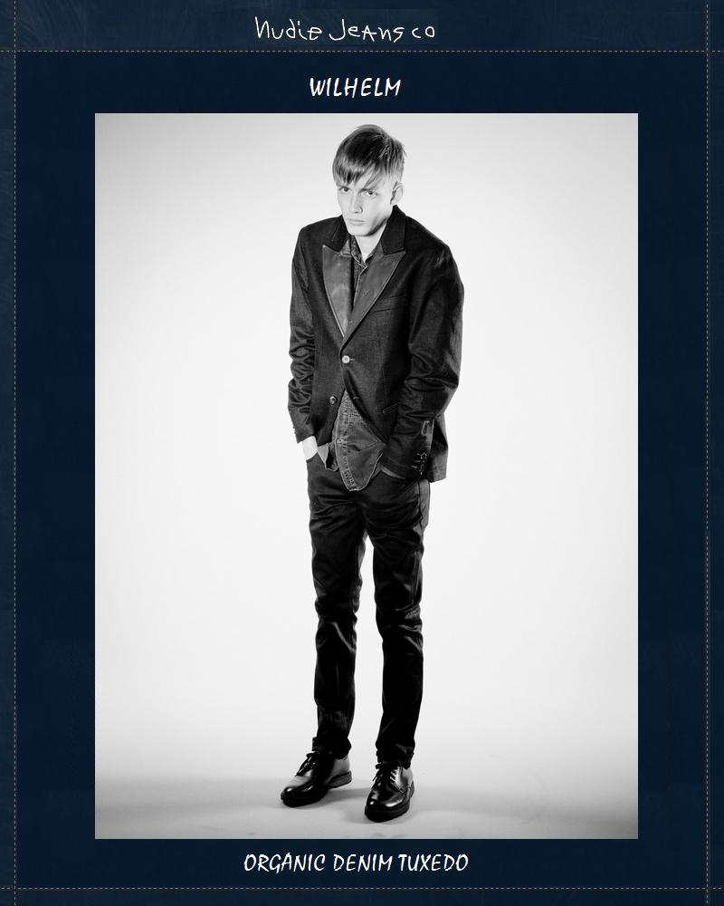 【全品P2倍】NudieJeans WILHELM タキシード デニムジャケット ヌーディージーンズ 限定カプセルコレクション