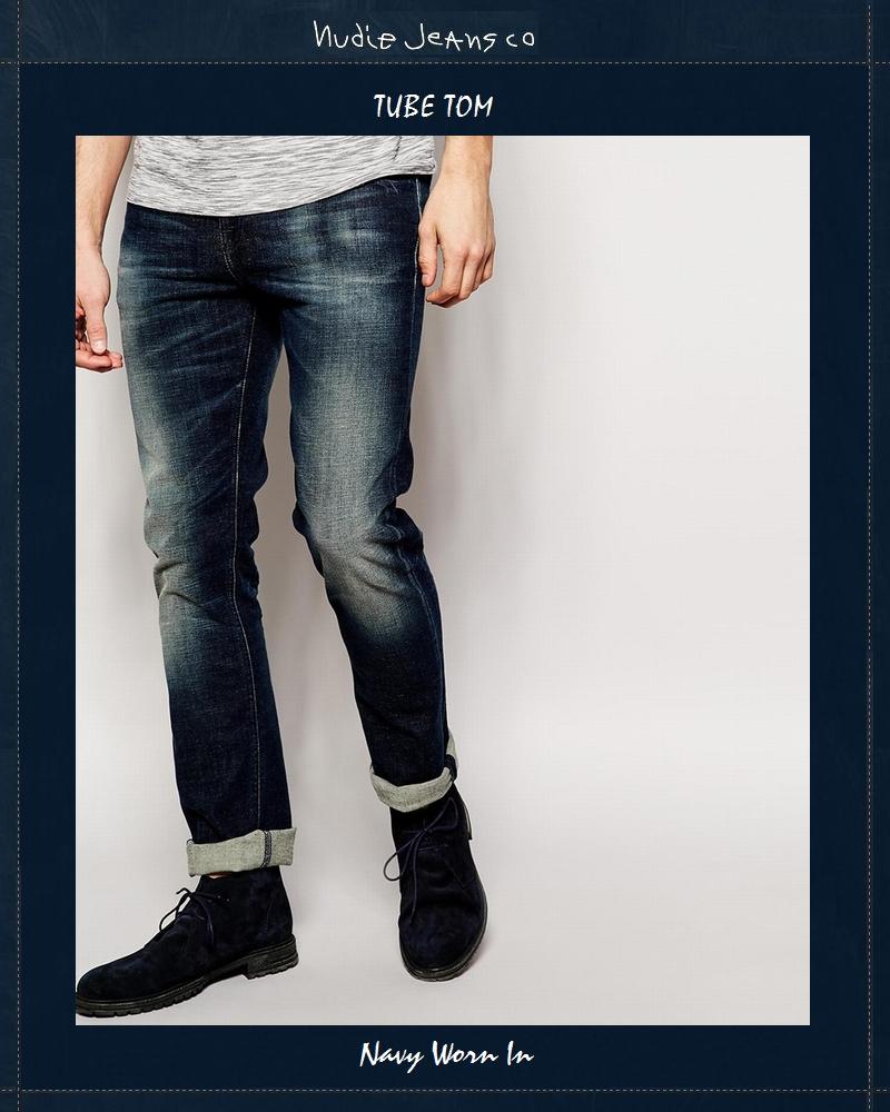 【全品P2倍】ヌーディージーンズ NudieJeans チューブトム ネイビーウォーンイン L32Tubetom Navy Worn In 北欧 スウェーデン