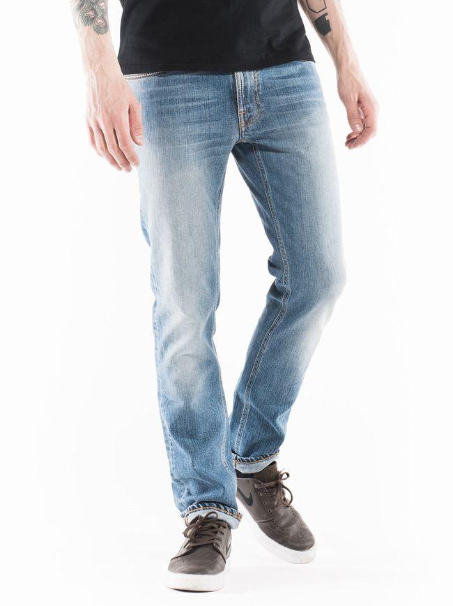 """【全品P2倍】ヌーディージーンズ NudieJeans シンフィン インディゴシャッフル L32ThinFinn""""IndigoShuffle 北欧 スウェーデン デニム"""