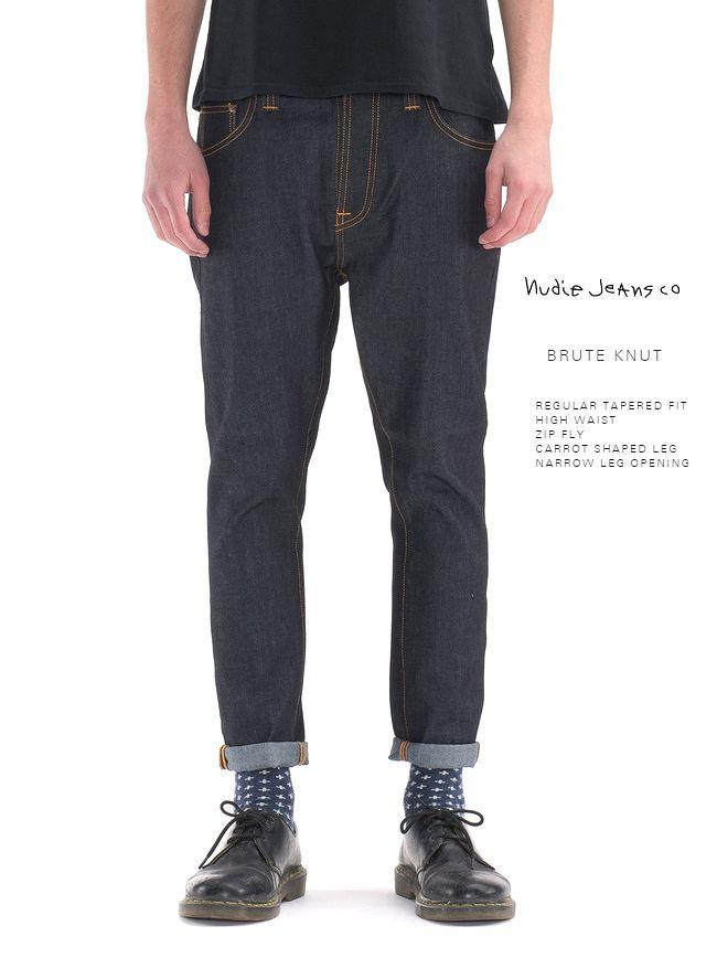 【全品P2倍】ヌーディージーンズ ブルートクヌートNudieJeans BRUTEKNUT ドライ・ネイビーコンフォート L28
