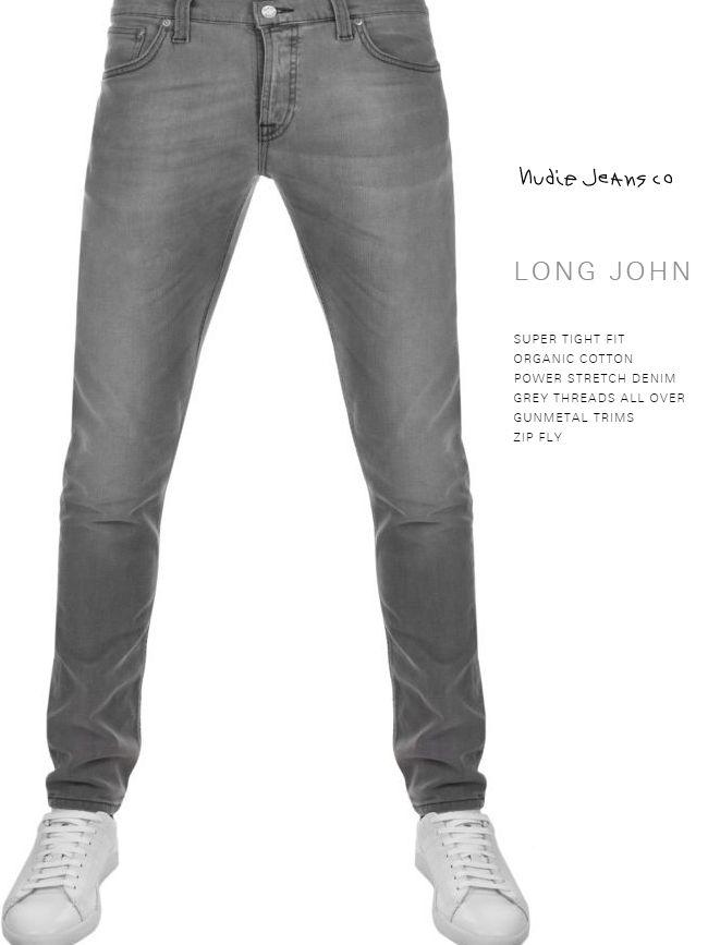 c8b7755c34f4 【全品P2倍】ヌーディージーンズ ロングジョン グレースパークスL32NudieJeans LongJohn GreySparks