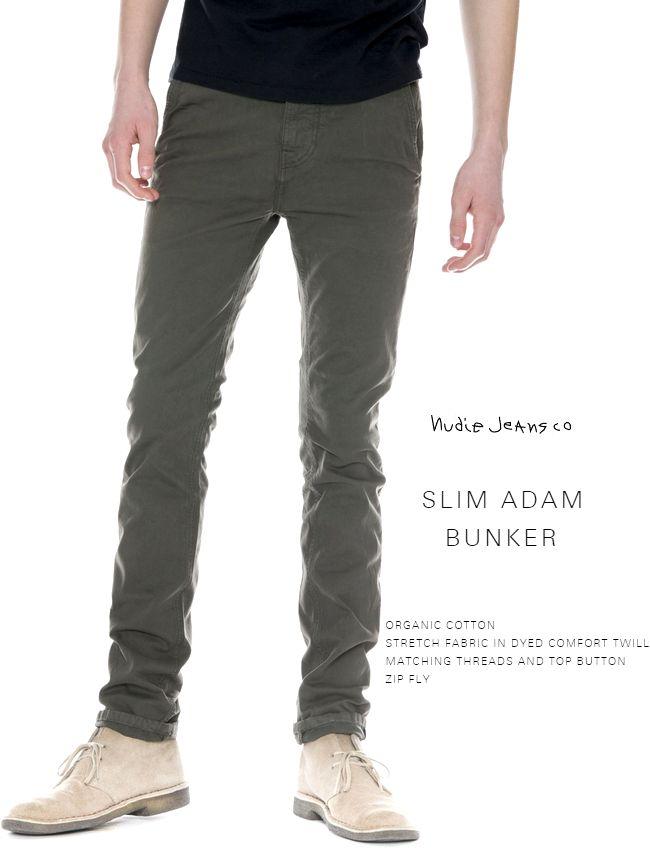 【全品P2倍】NudieJeans SlimAdam BUNKERヌーディージーンズ スリムアダム チノパンツ