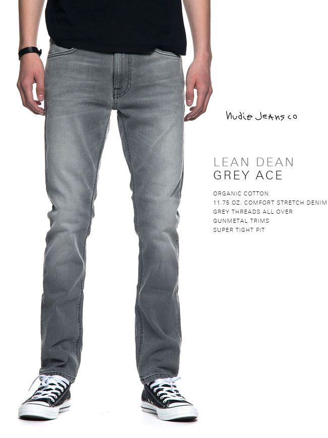【全品P2倍】ヌーディージーンズ Nudiejeans リーンディーン グレーエース L30NudieJeans LeanDean GREY ACE 北欧 スウェーデン デニム