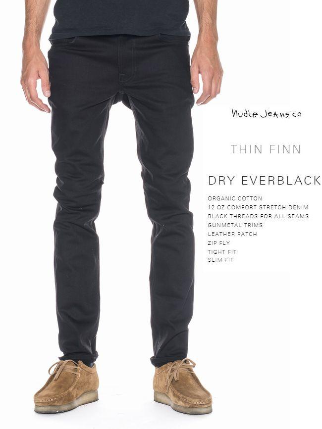 【全品P2倍/最大10,000円OFFクーポン配布中】ヌーディージーンズ シンフィン ドライ エバー ブラックNudieJeans ThinFinn DRY EVER BLACKスウェーデン デニム