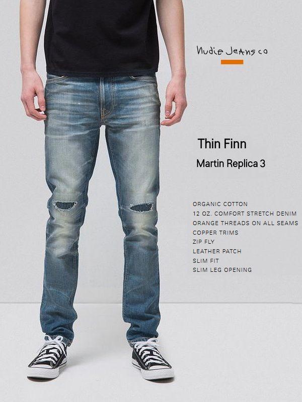 【全品P2倍】ヌーディージーンズ シンフィン 日本限定モデル マーティン レプリカ インディゴ L30NudieJeans ThinFinn MARTIN REPLICAスウェーデン デニム