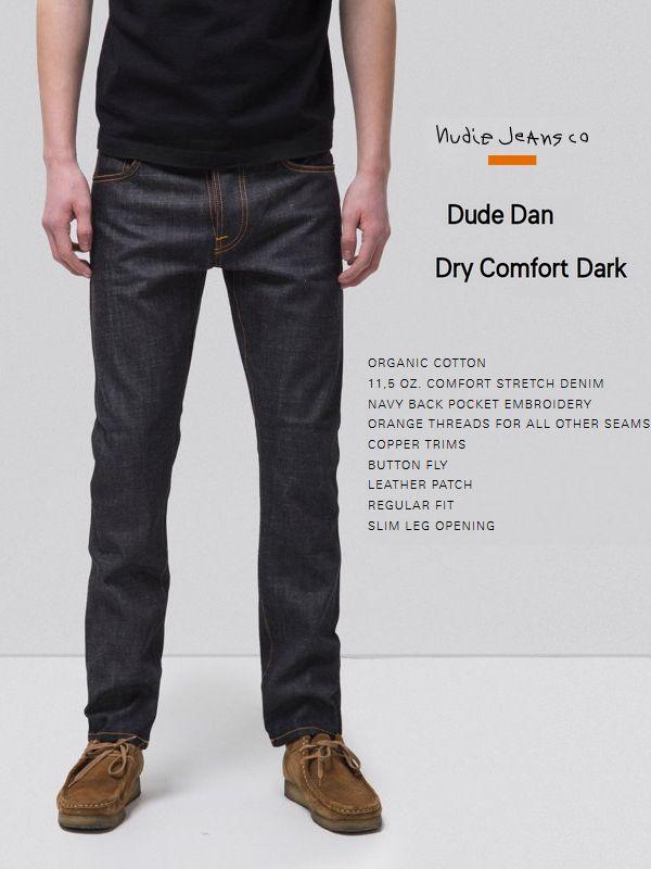 【全品P2倍/最大10,000円OFFクーポン配布中】NudieJeans DUDEDAN DRY COMFORT DARK L30ヌーディージーンズ デュードダン ドライ・コンフォート・ダーク インディゴ 生デニム スウェーデン