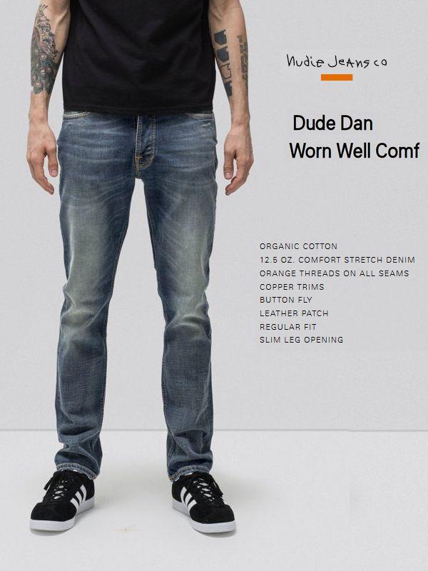 【全品P2倍】NudieJeans DUDEDAN WORN WELL COMF L30ヌーディージーンズ デュードダン ウォーンウェルコンフ インディゴ デニム スウェーデン