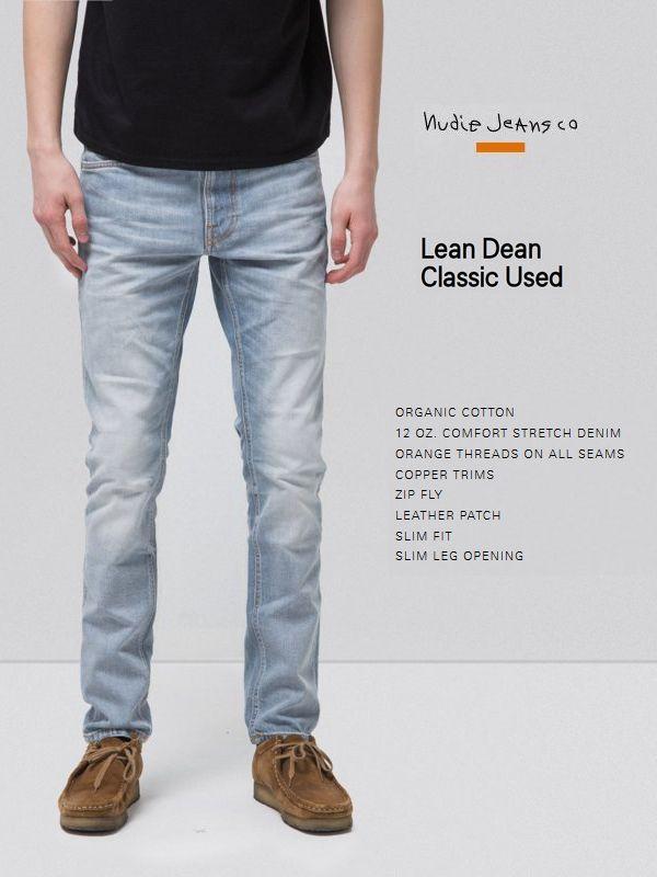 ヌーディージーンズ Nudiejeans リーンディーン クラシックユーズド L30NudieJeans LeanDean CLASSIC USED 北欧 スウェーデン デニム