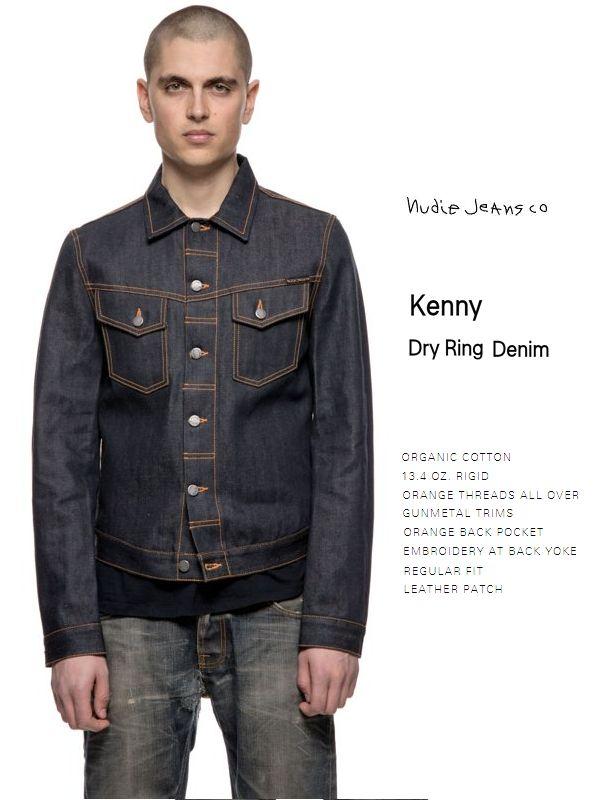 【全品P2倍】ヌーディージーンズ Gジャン 日本限定モデル ケニーNudiejeans Kenny B26 Dry Ring デニム スウェーデン ジャケット