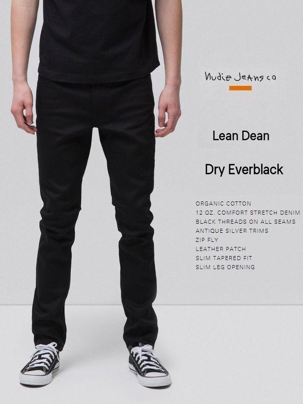【全品P2倍】ヌーディージーンズ リーンディーン ドライ エバー ブラックNudieJeans LEANDEEN DRY EVER BLACK ブラックデニム