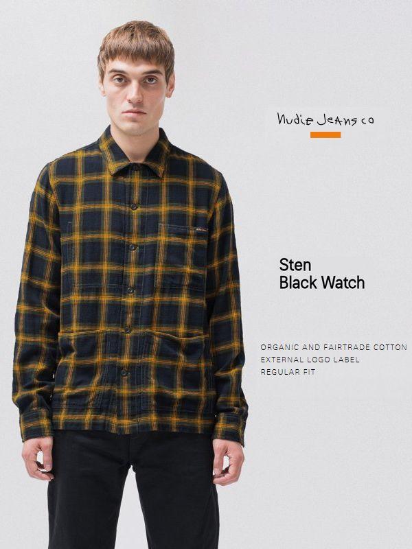【全品P2倍/最大10,000円OFFクーポン配布中】ヌーディージーンズ チェックシャツ シャツジャケット Nudiejeans STEN シャツ スウェーデン ジャケット
