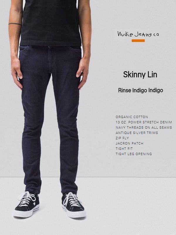 【全品P2倍/最大10,000円OFFクーポン配布中】NudieJeans SkinnyLin rinse indigo indigoL30ヌーディージーンズ スキニーリン リンス インディゴ インディゴ スウェーデン 北欧デニム