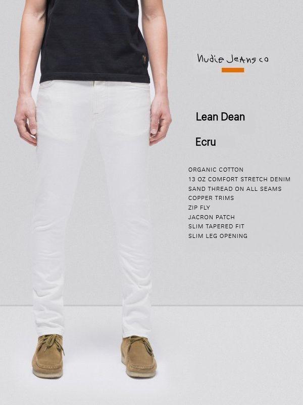 ヌーディージーンズ リーンディーン エクリュ ホワイトNudieJeans LEANDEEN ECRU デニム