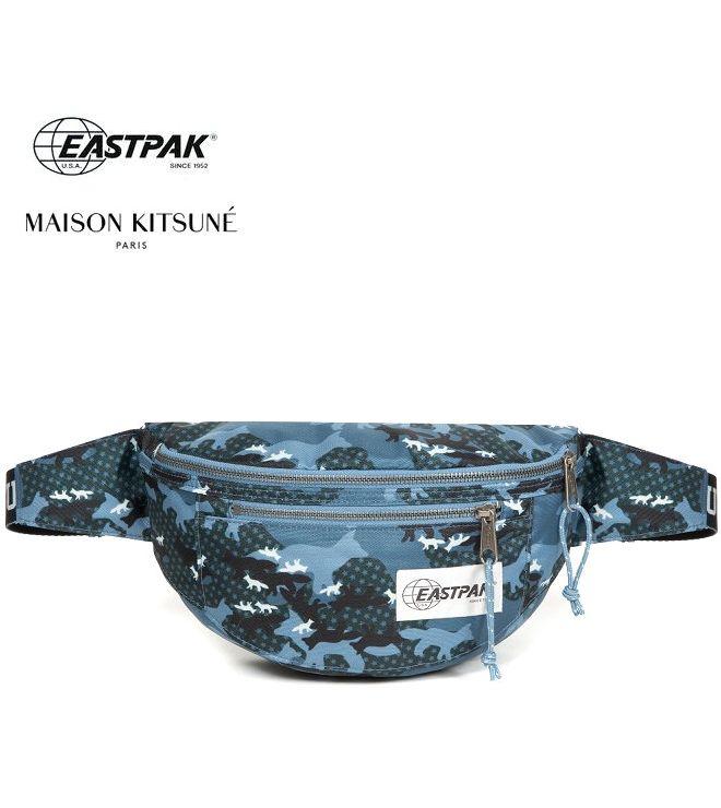 2019新作 イーストパック メゾンキツネ 世界限定モデル EASTPAK MAISON KITSUNE ウェストバッグ ダークカモ