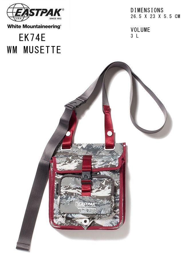 2019-2020秋冬新作 ホワイトマウンテニアリング イーストパック 限定モデル White Mountaineering EASTPAK MUSETTE ミュゼット バッグ