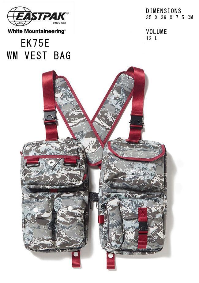 2019-2020秋冬新作 ホワイトマウンテニアリング イーストパック ベストバッグ 2個セット 限定モデルWhite Mountaineering EASTPAK VESTBAG ベストバッグ