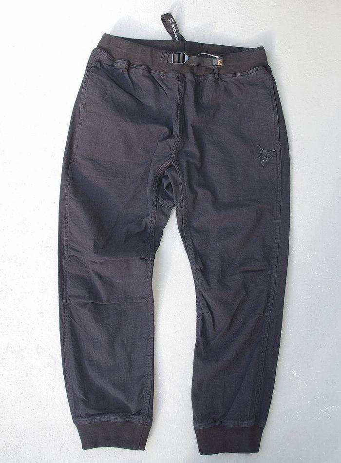 【全品P2倍】【ROKX Y's RIB PANT】【ロックス×ワイズ 綿麻リブパンツ/ブラック】