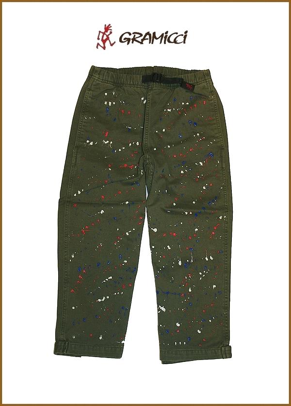 """【GRAMICCI】【3/4Length.Pants""""ペイントパンツ/オリーブ】【グラミチ7分丈パンツ】"""