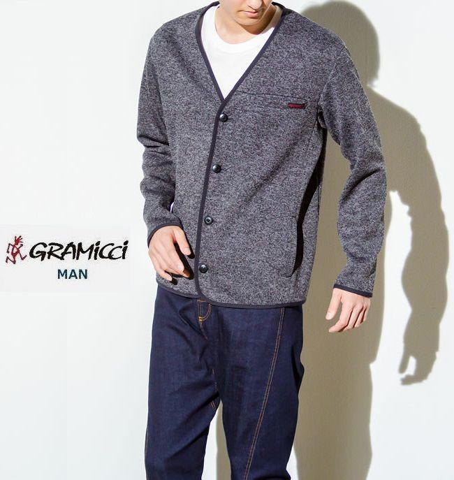 GRAMICCI グラミチ 秋冬 ボンディング ニット フリース カーディガンBonding knit fleece cardiganグラミチ国内正規取り扱い