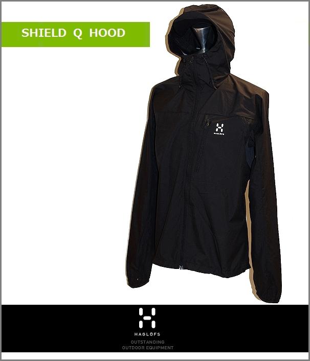 HAGLOFS Shield Q Hood Woman black ホグロフス 女性用 ジャケット