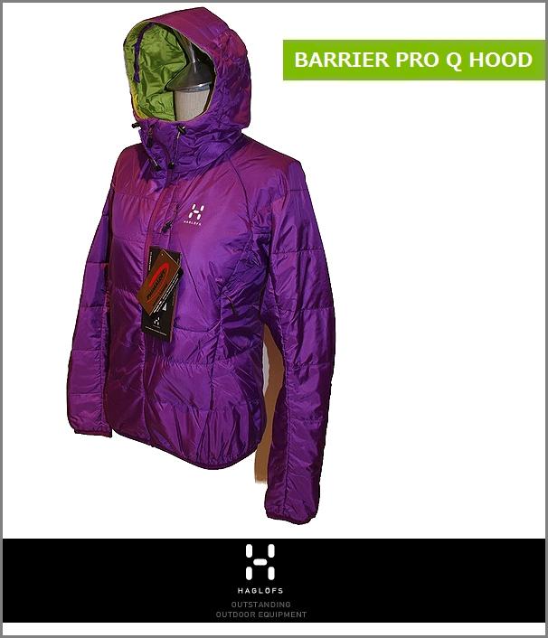 【全品P2倍/最大10,000円OFFクーポン配布中】HAGLOFS Barrier Pro Q Hood Womanホグロフス バリア プロ ジャケット 女性用