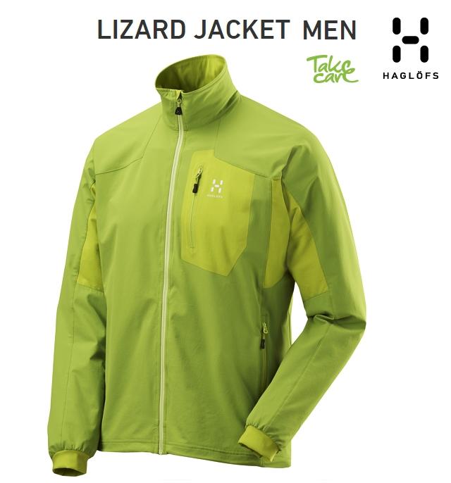 【全品P2倍/最大10,000円OFFクーポン配布中】HAGLOFS Lizard-Jacket Lime-Greenホグロフス リザードジャケット ライムグリーン