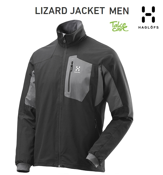 "HAGLOFS Lizard-Jacket""True-Blackホグロフス""リザードジャケット トゥルーブラック"