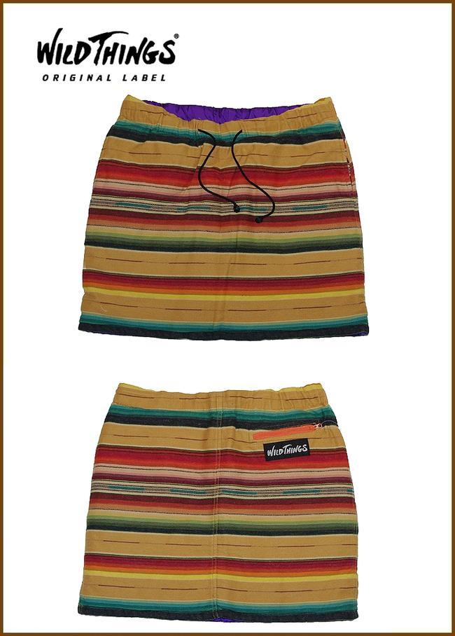 "【Wild Things】【SERAPE""PrimaLoft-Skirt""Khaki】【ワイルドシングス""リバーシブル】"