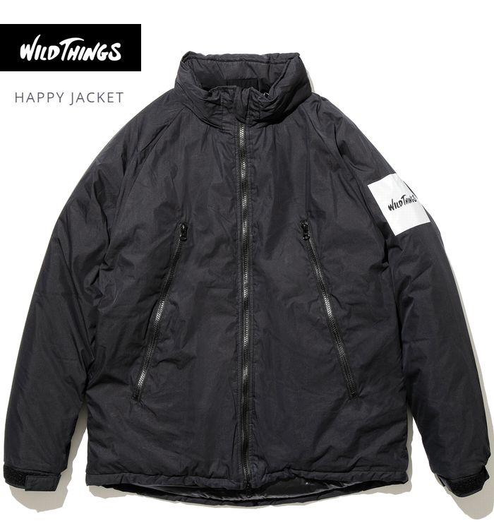 【全品P2倍】秋冬新作 ワイルドシングス ハッピージャケット ブラック プリマロフト内蔵 ミリタリーWildthings Happy Jacket